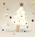 White Christmas postcard greetings vector image