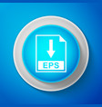 white eps file document icon download eps button vector image vector image