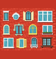 windows outdoor home exterior objects wooden vector image