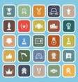 winner flat icons on blue background vector image