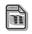 winrar format type archive vector image