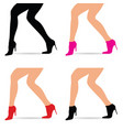 woman legs in fashion shoes set vector image vector image