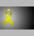 yellow textile ribbon emblem of fight against vector image vector image