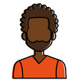 young black man avatar character vector image vector image