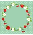 Lovely frame background vector image