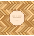 Abstract wooden floor panels frame seamless vector image