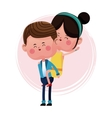 boy carrying girl funny graphic vector image