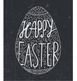 easter egg lettering decorated happy vector image