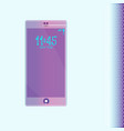 purple ultraviolet realistic smartphone with no vector image