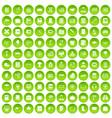 100 book icons set green circle vector image vector image