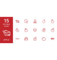 15 apple icons vector image vector image