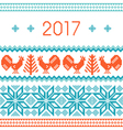 2017 New Year greeting card template vector image vector image
