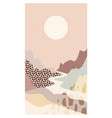 abstract mountain landscape river scenery vector image vector image