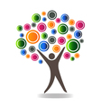 Abstract people tree vector image vector image