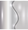 abstract silver background with curve and stripes vector image vector image