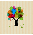 Abstract Tree With Colorful Blob vector image vector image