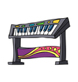 An electronic piano is placed vector image vector image