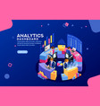analytics dashboard financial banner vector image vector image