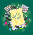 back to school banner deisgn template to school vector image
