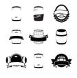 Barrels set vector image