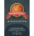 Basketball tournament background or poster Design vector image