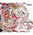 Black red and gold marble style abstract vector image vector image