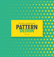 blue and yellow polka dots background vector image vector image