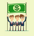 business team work and leadership concept icon vector image vector image
