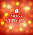 Christmas Greeting Card with lights vector image vector image