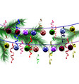 christmas toys on a background of blurred vector image