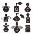 collection of silhouettes of bottles for perfume vector image vector image