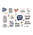 collection stylish valentine s day letterings vector image vector image