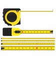 creative of tape measure vector image