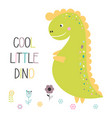 cute funny dinosaur isolated vector image vector image