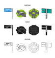 direction signs and other web icon in cartoon vector image vector image