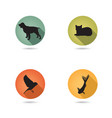dog and cat set collection pets icon silhouette vector image