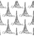 eiffel tower seamless background pattern vector image