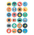 Electronics Flat Icons 1 vector image vector image
