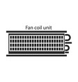 fan iconblack icon isolated vector image vector image