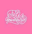 feliz aniversario translated from spanish vector image