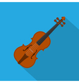 flat violin vector image