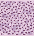 flower pattern with hearts seamless background vector image