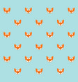 fox cartoon cute animal seamless pattern vector image vector image