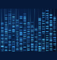 genomic data visualization dna genome sequence vector image