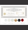 gift certificate retro vintage template 8 vector image vector image
