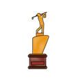 golf trophy cup vector image