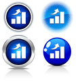 growth buttons vector image vector image