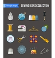 Handmade and sewing icons set Flat style design vector image vector image