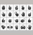 hands icons isolated vector image vector image