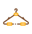 hanger for cloth icon outline vector image vector image